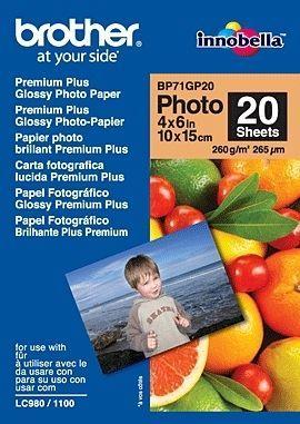 Brother BP71GP20 Premium Glossy Photo Paper pak fotopapier Wit