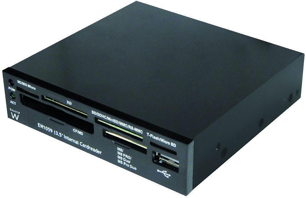 Ewent EW1059 geheugenkaartlezer USB 2.0 Intern Zwart