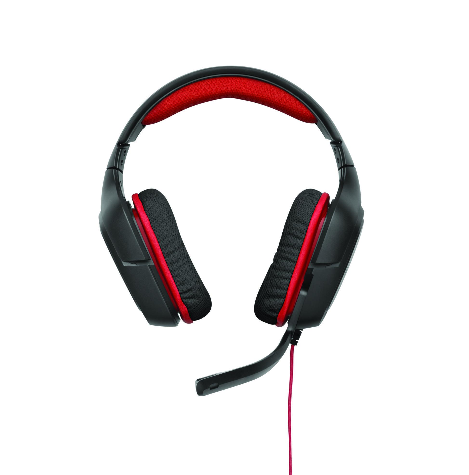 Logitech G G230 Headset Hoofdband Zwart, Rood