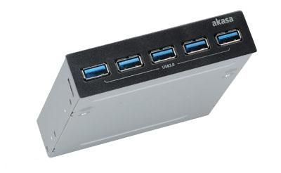 Akasa InterConnect Pro 5S 5000 Mbit/s Zwart