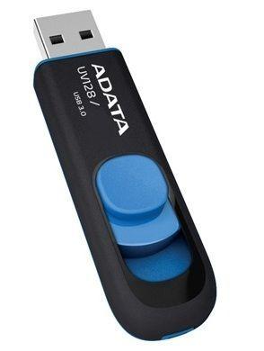 ADATA 64GB DashDrive UV128 USB flash drive USB Type-A 3.2 Gen 1 (3.1 Gen 1) Zwart, Blauw
