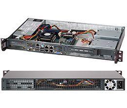 Supermicro CSE-505-203B server barebone Rack (1U)