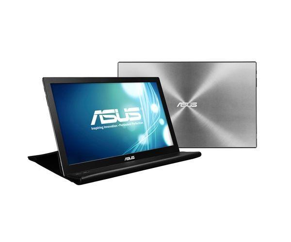 """ASUS MB168B 39,6 cm (15.6"""") 1366 x 768 Pixels WXGA LED Zwart, Zilver"""