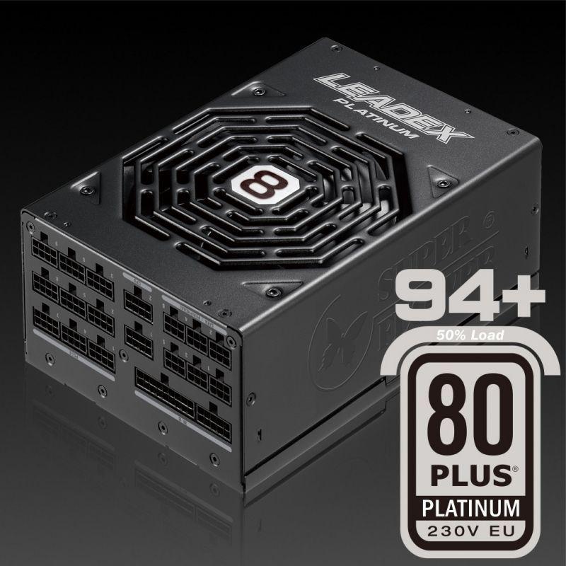 Super Flower Leadex Platinum 2000W power supply unit 20+4 pin ATX ATX Zwart