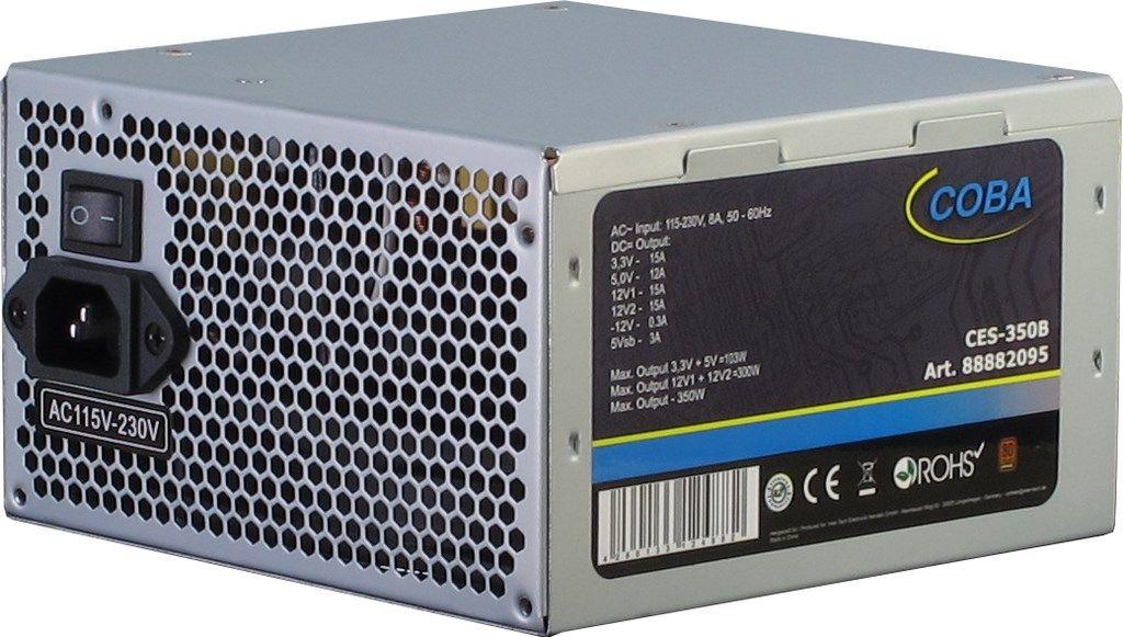 Inter-Tech Coba CES-350B power supply unit 350 W 20+4 pin ATX ATX Zilver