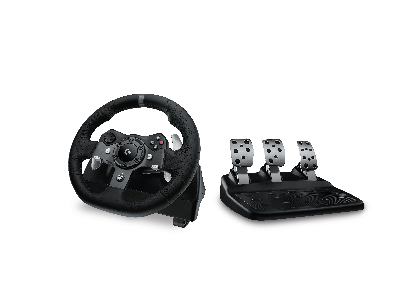 Logitech G920 Stuurwiel + pedalen PC, Xbox One Analoog/digitaal USB 2.0 Zwart