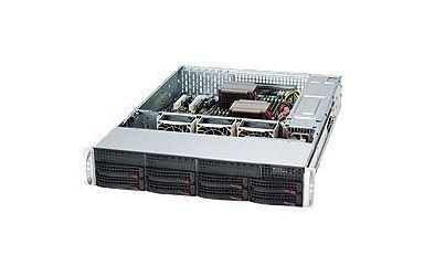 Supermicro SC825TQC-600LPB computerbehuizing Rack Black 600 W