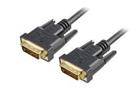 Sharkoon DVI-D/DVI-D (24+1), 1 m 1m DVI-D DVI-D Zwart DVI kabel