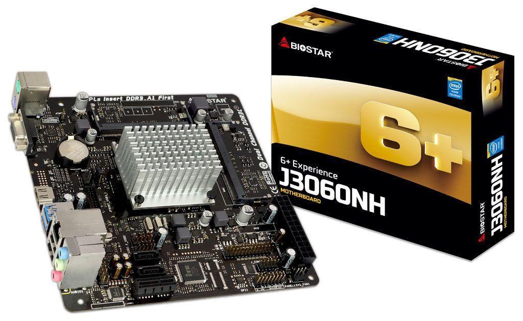 Biostar J3060NH moederbord mini ITX