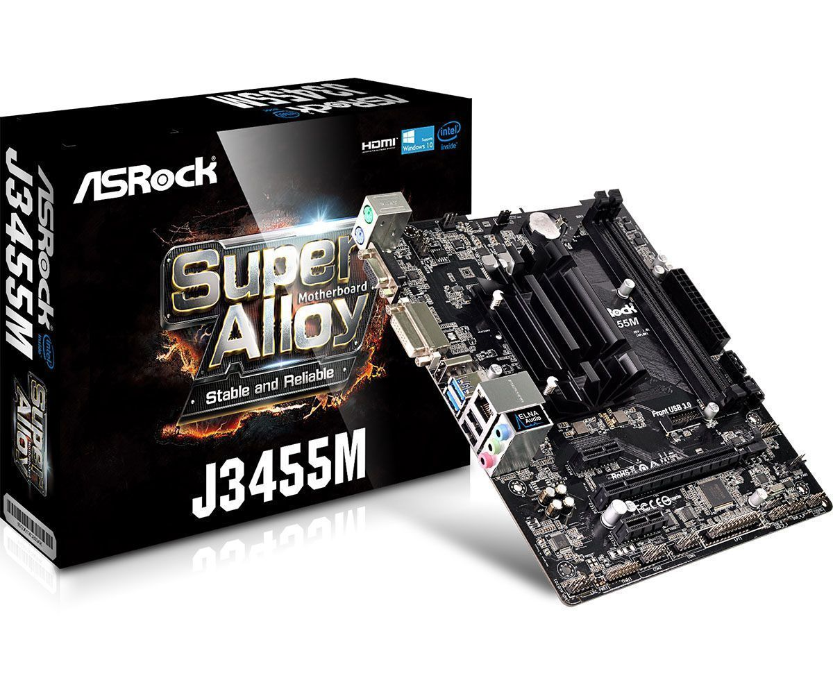 Asrock J3455M NA (geïntegreerde CPU) micro ATX