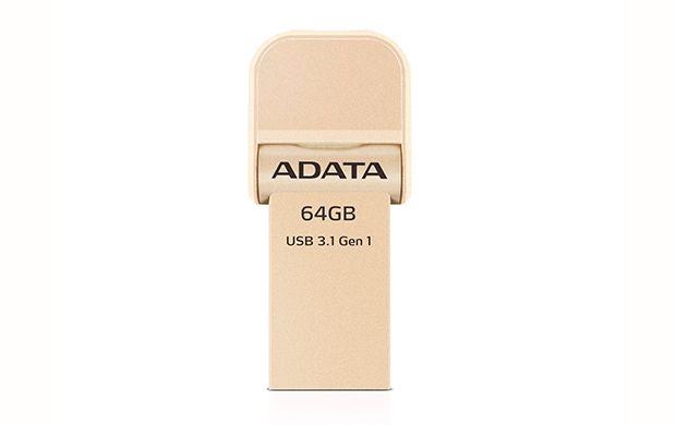 ADATA AI920, 64GB USB flash drive USB Type-A / Lightning 3.2 Gen 1 (3.1 Gen 1) Goud