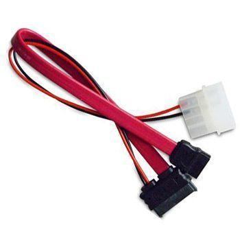 Akasa AK-CB050 SATA-kabel 0,2 m Molex (4-pin) Rood