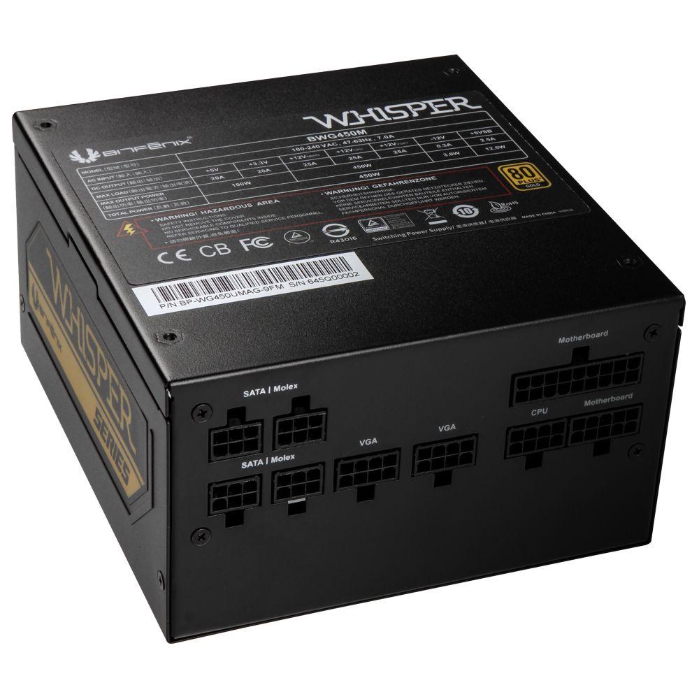 BitFenix BWG450M power supply unit 450 W 20+4 pin ATX Zwart
