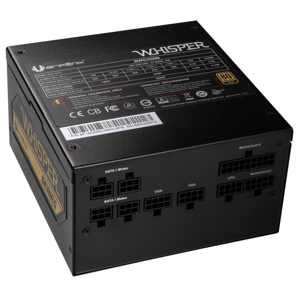 BitFenix BWG550M power supply unit 550 W 20+4 pin ATX Zwart
