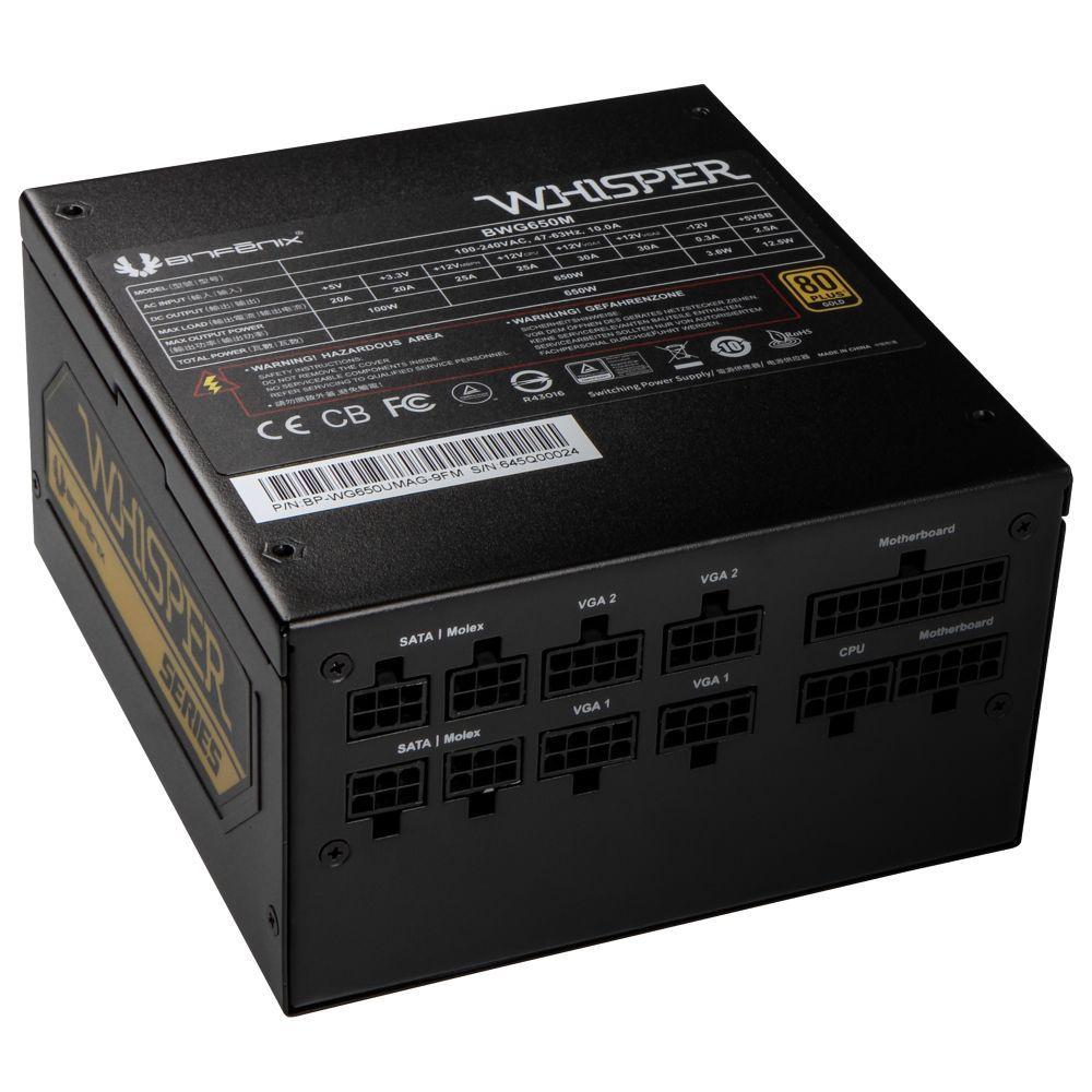 BitFenix BWG650M power supply unit 650 W 20+4 pin ATX Zwart