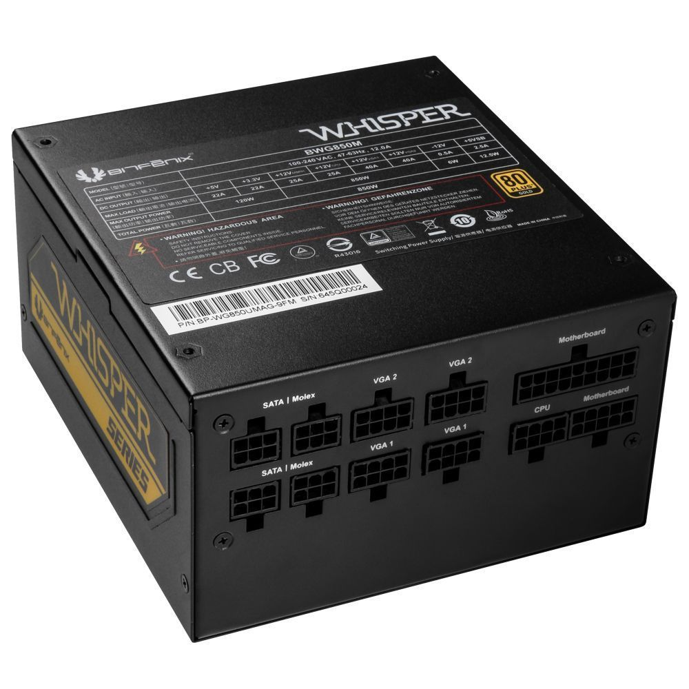 BitFenix BWG850M power supply unit 850 W 20+4 pin ATX Zwart