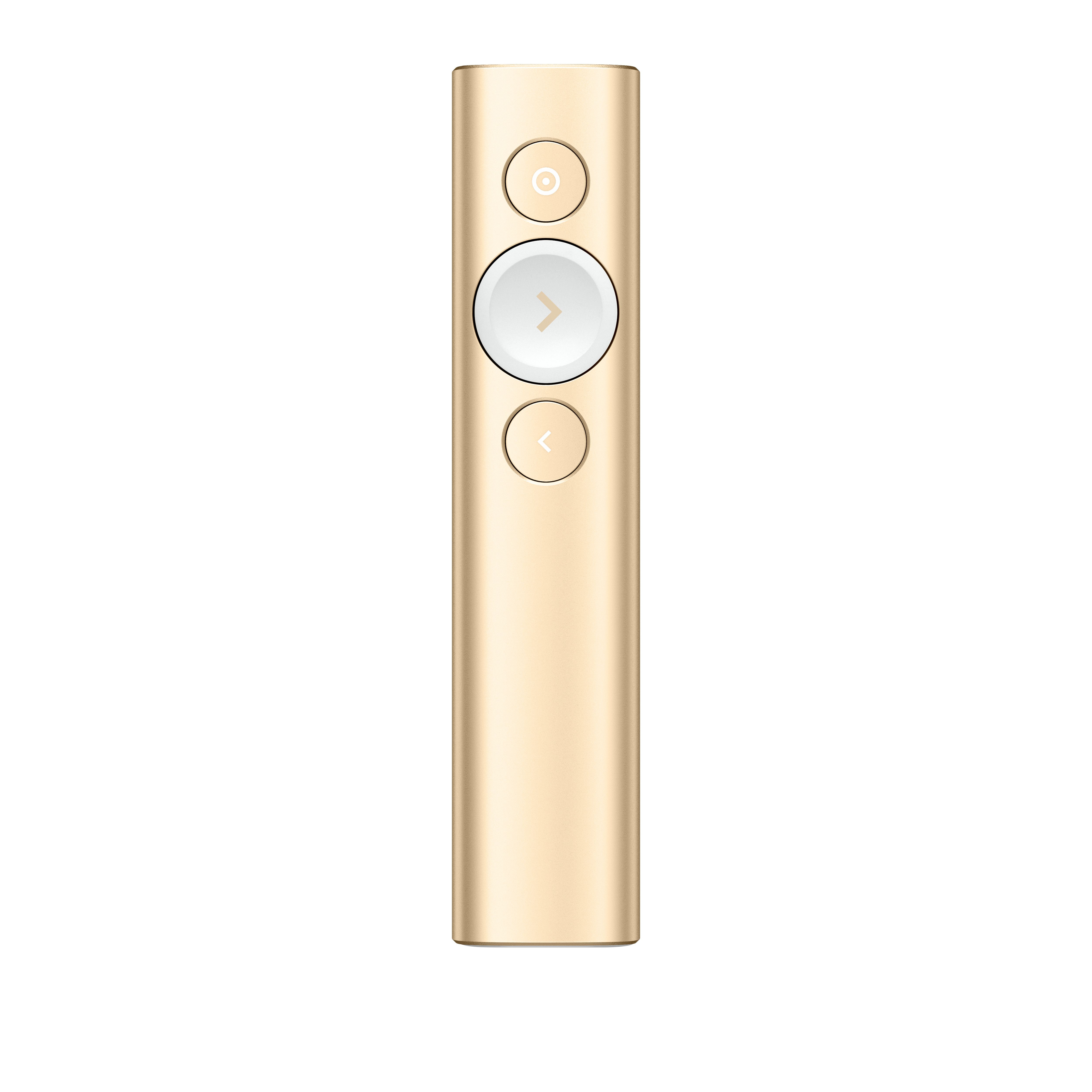 Logitech Spotlight Draadloze presenter Bluetooth/RF Goud