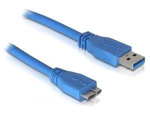 DeLOCK Micro USB 3.0 - 1M USB-kabel USB A Blauw