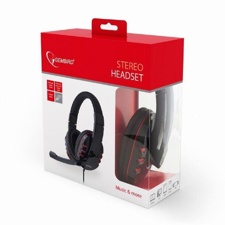 Gembird GHS-402 hoofdtelefoon/headset Hoofdband Zwart