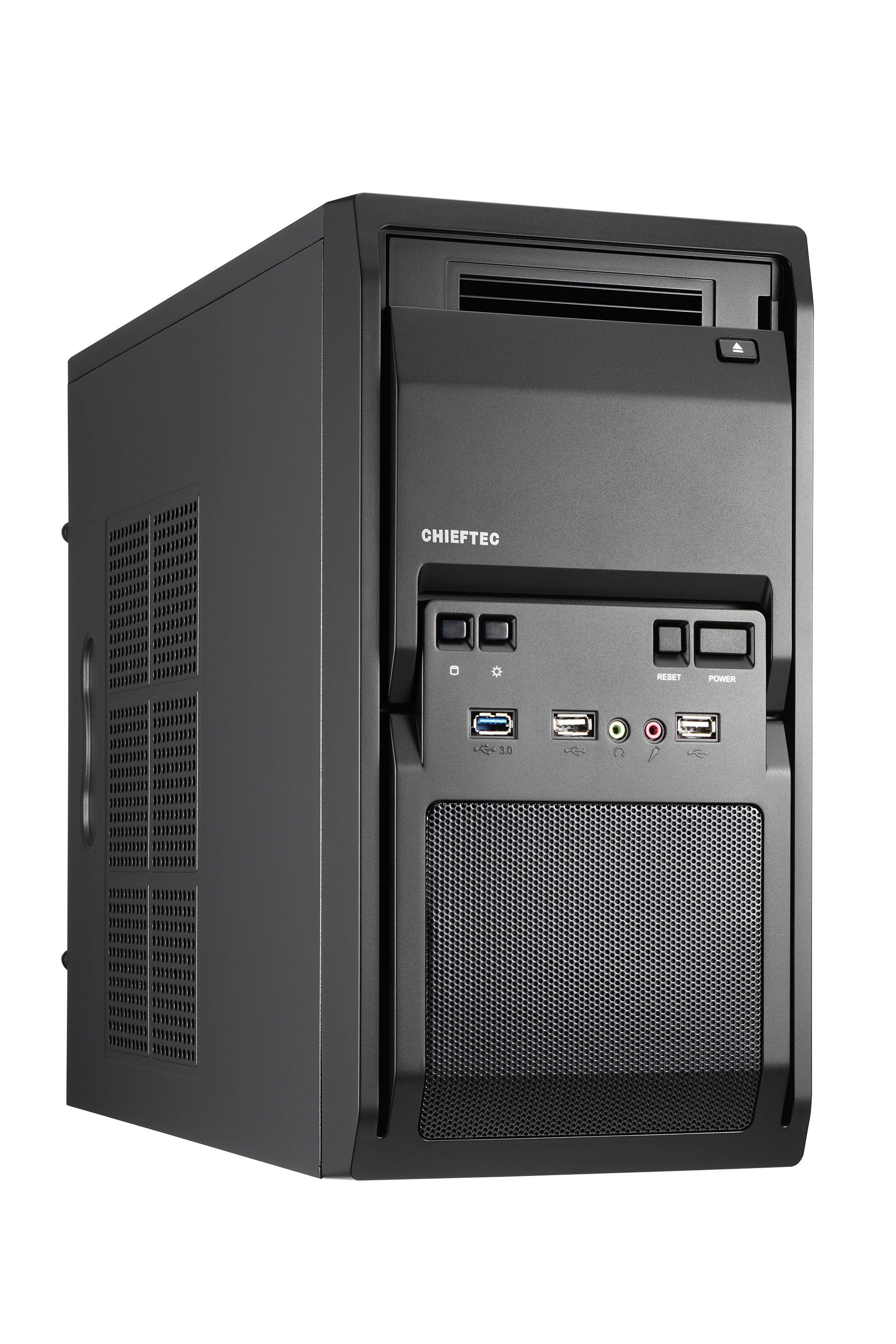 Chieftec LT-01B-350GPB computerbehuizing Mini Tower Zwart 250 W