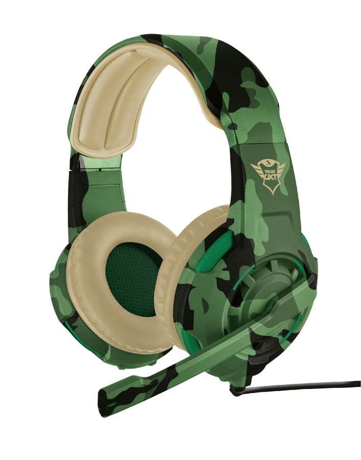 Trust GXT 310 Cammo - Gaming Headset (PC + PS4 + Xbox One) - Jungle Camouflage