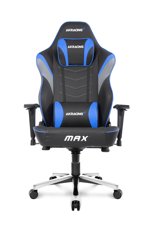 AKRacing Max PC-gamestoel Gestoffeerde gevoerde zitting Zwart, Blauw