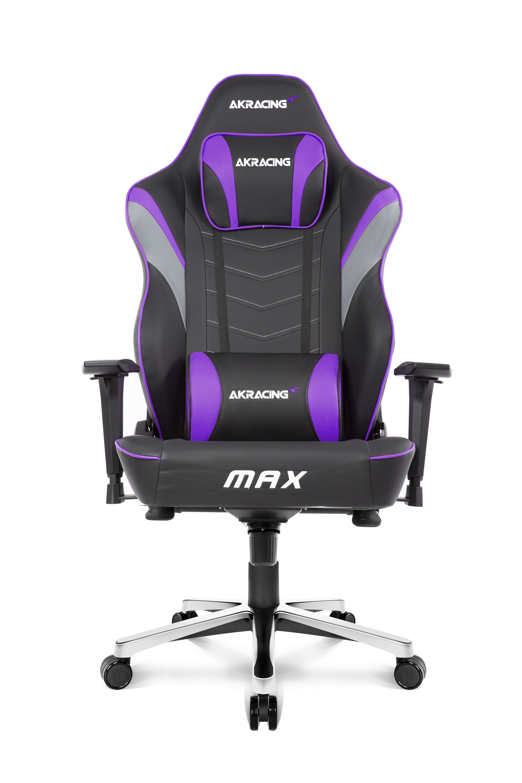 AKRacing Max PC-gamestoel Gestoffeerde gevoerde zitting Zwart, Grijs, Violet