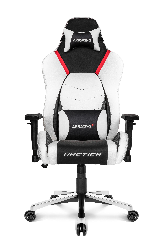 AKRacing Premium PC-gamestoel Gestoffeerde gevoerde zitting Zwart, Rood, Wit
