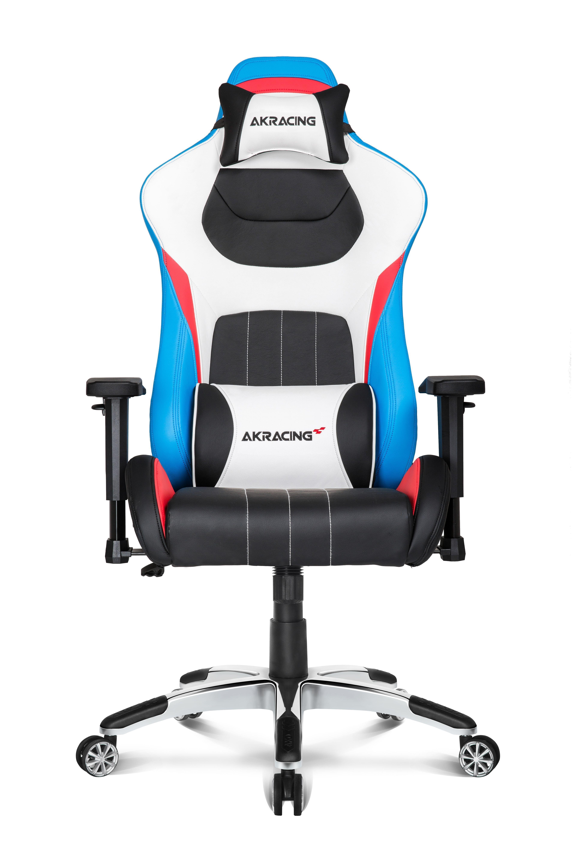AKRacing Premium PC-gamestoel Gestoffeerde gevoerde zitting Zwart, Blauw, Rood, Wit