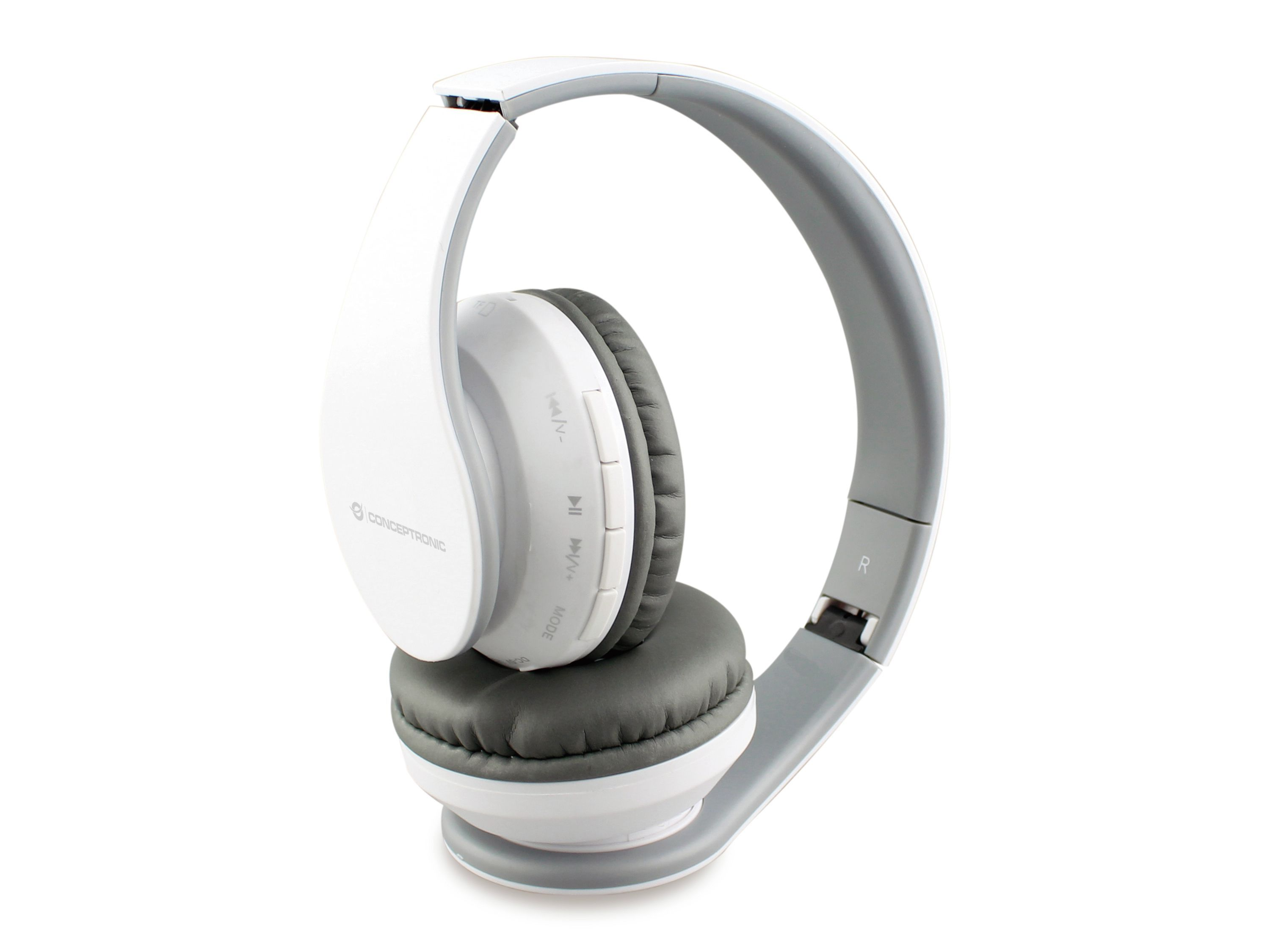 Conceptronic PARRIS01W Headset Hoofdband Wit
