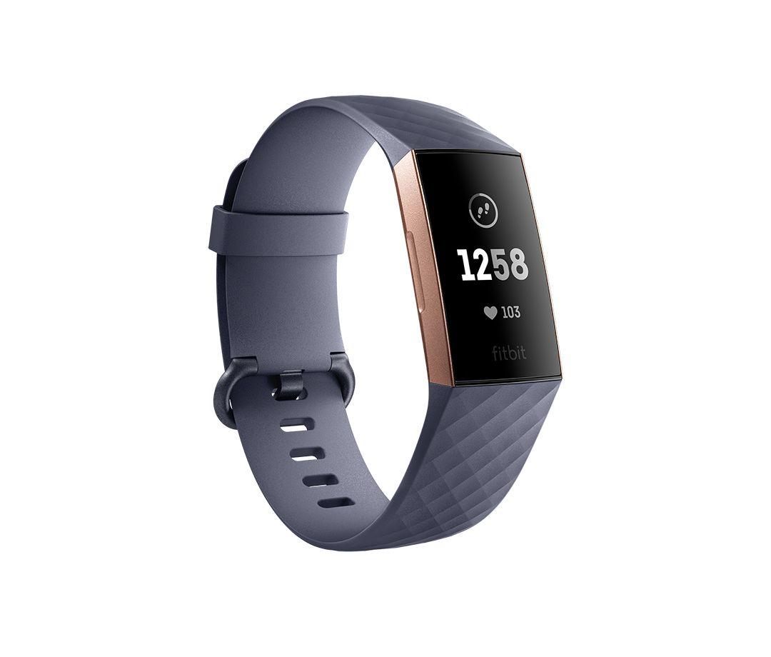 Fitbit Charge 3 OLED Polsband activiteitentracker Grijs, Roségoud