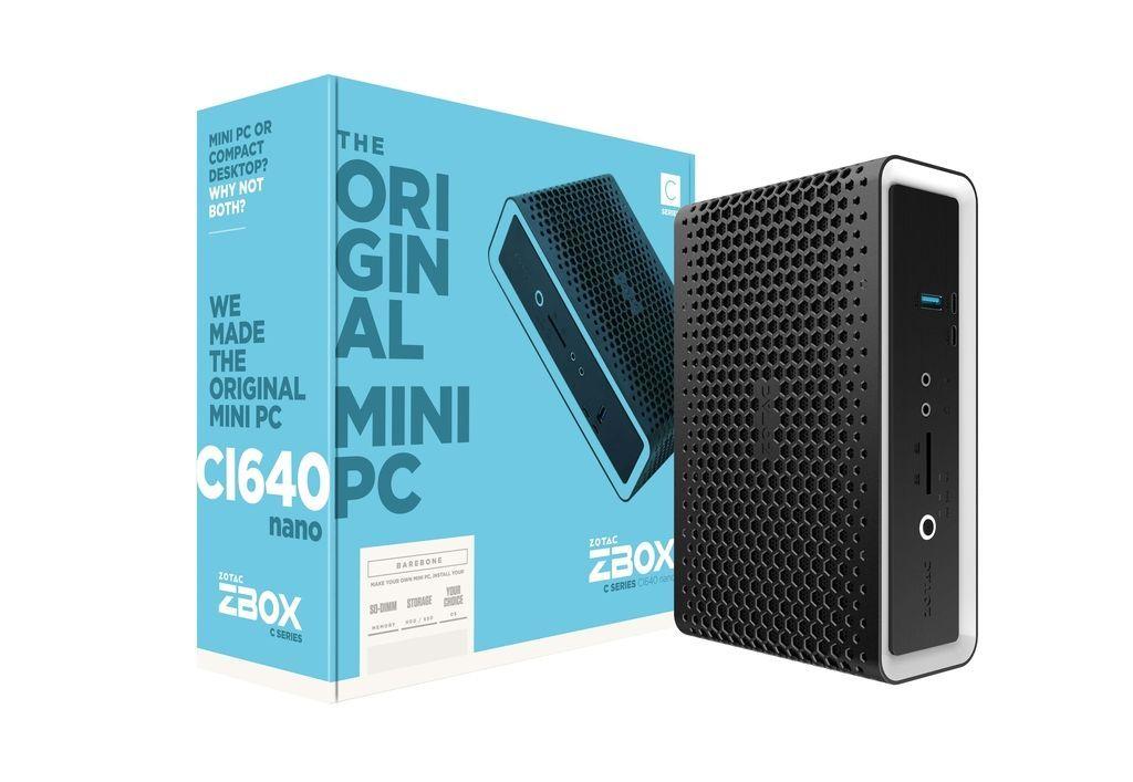 Zotac ZBOX CI640 nano i5-8250U 1,6 GHz SFF Zwart BGA 1356