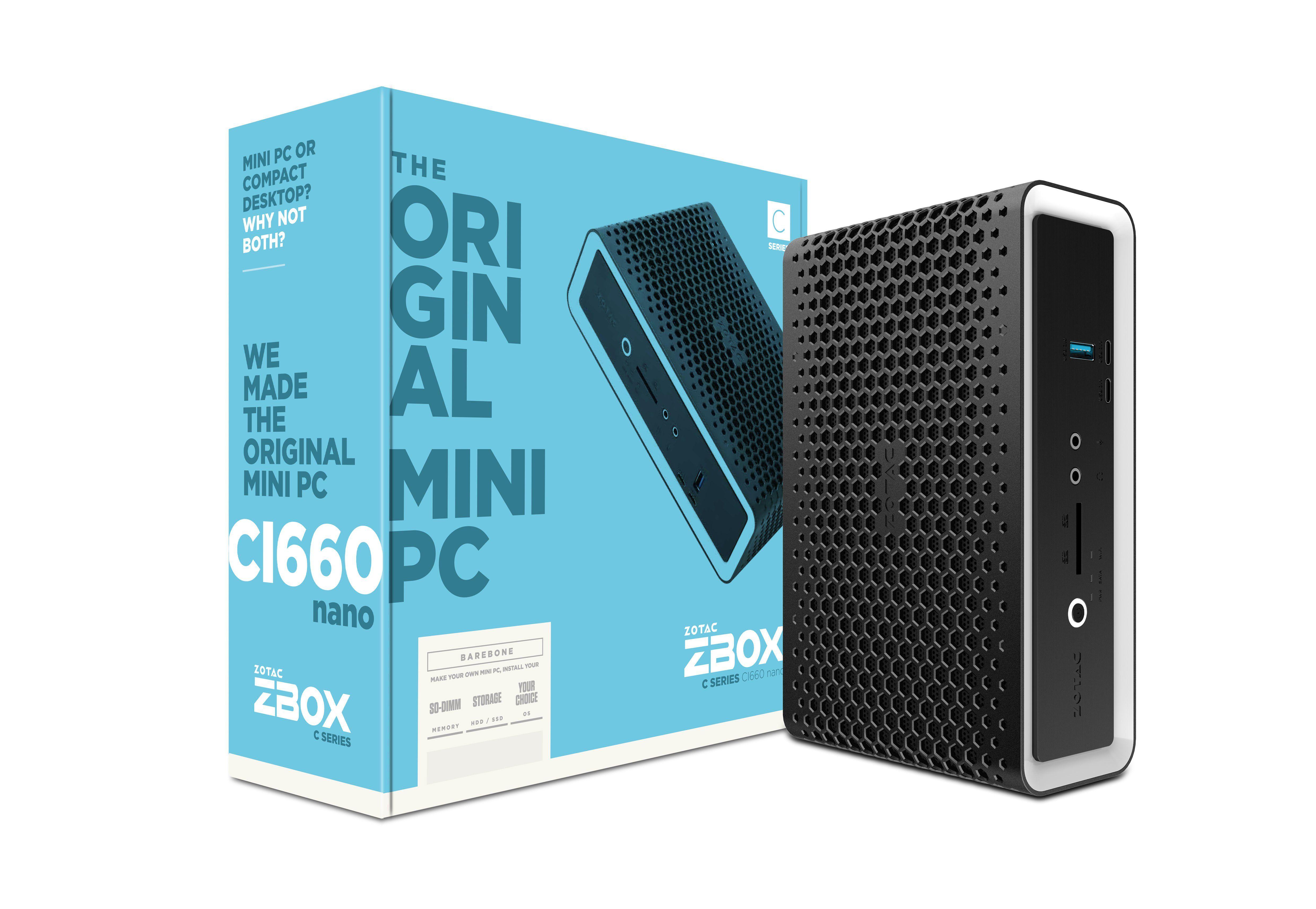 Zotac ZBOX CI660 nano i7-8550U 1,8 GHz SFF Zwart BGA 1356