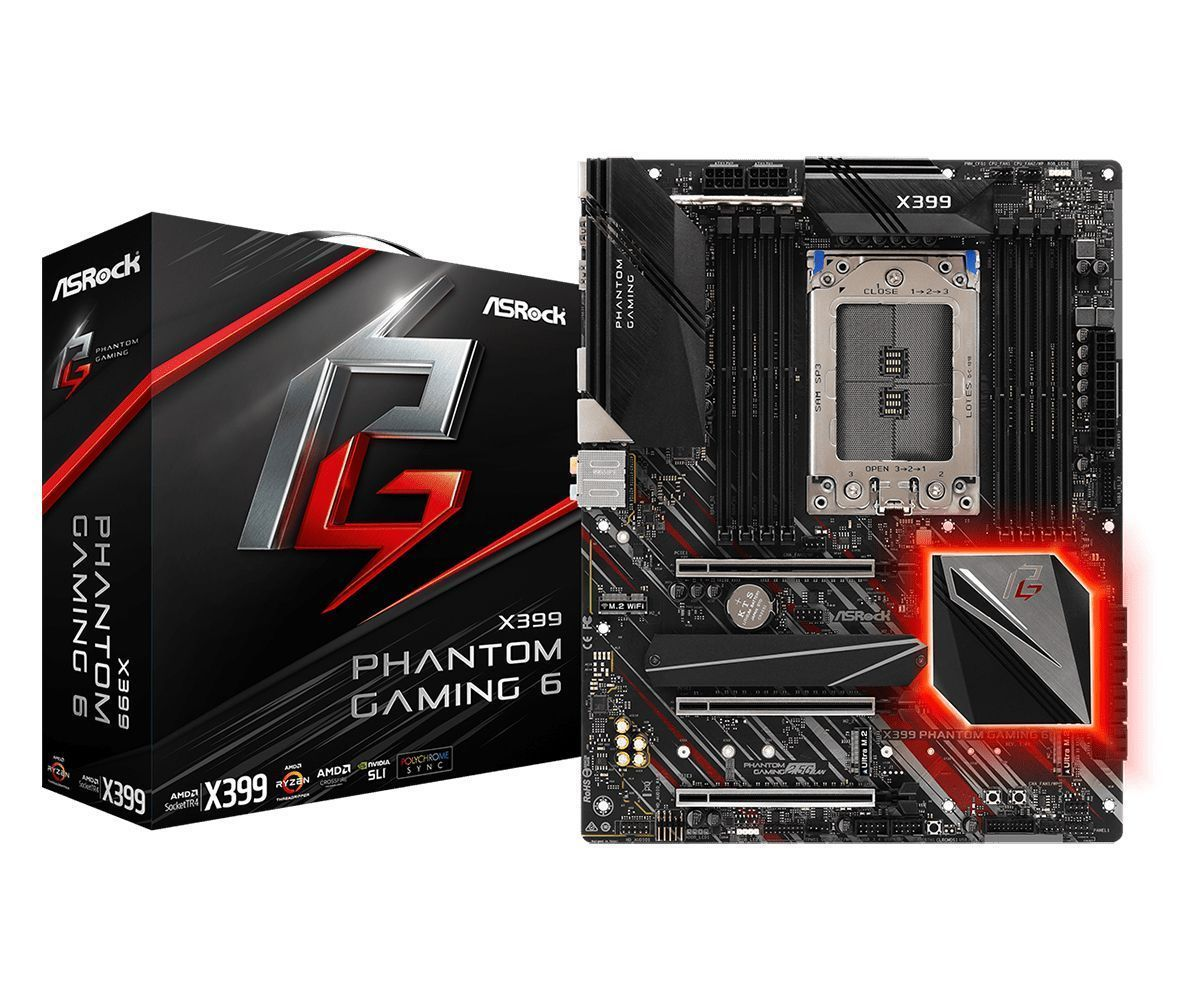 Asrock X399 Phantom Gaming 6 AMD X399 Socket TR4 ATX