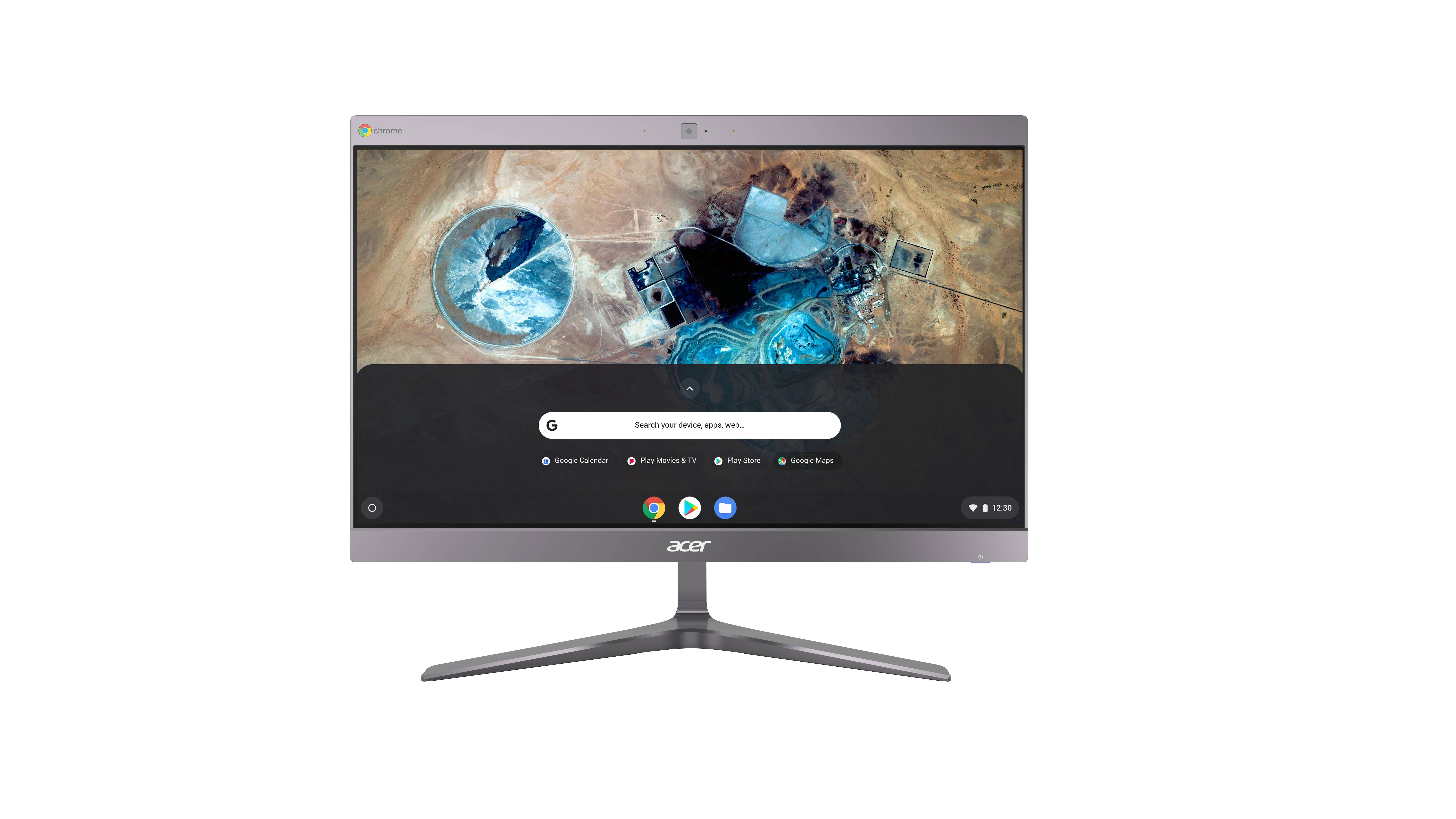"Acer Chromebase 24 CA24I2 60,5 cm (23.8"") 1920 x 1080 Pixels Touchscreen Intel® Celeron® 4 GB DDR4-SDRAM 32 GB SSD Chrome OS Wi-Fi 5 (802.11ac) Alles-in-één-pc Zilver"