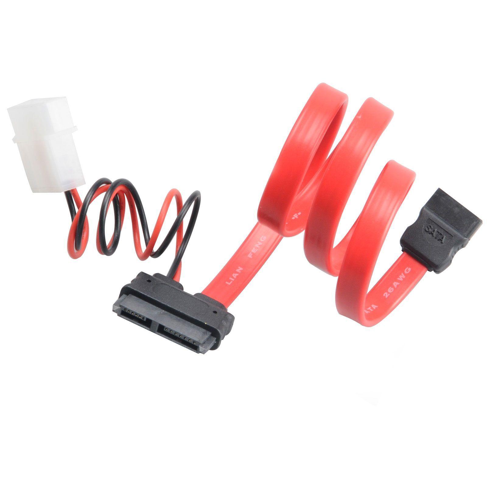 Akasa 40cm SATA cable f/ slimline opticals 0,4 m